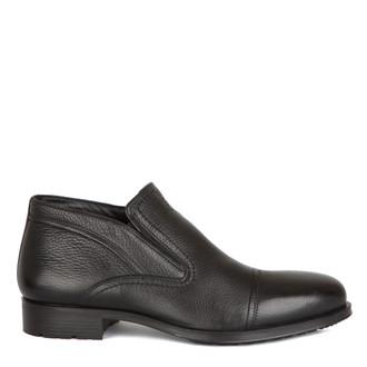 Men's Black Leather Slip-On Boots MP 7599215 BLI