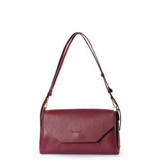 Rich Burgundy Leather Prague Bag YG 5325810 BDB