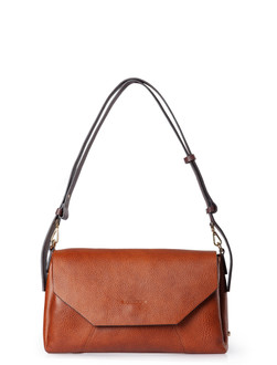 Cognac Brown Leather Prague Bag YG 5325810 CGB