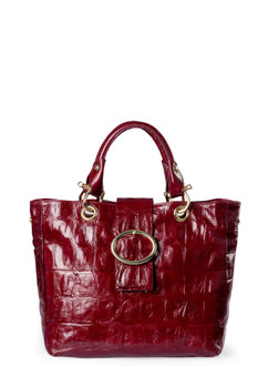 Burgundy Glossy Leather Valencia Bag YG 5335010 BDC