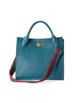 Turquoise Leather Naples Bag YG 5340810 GRN