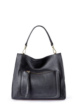 Timeless Black Leather Barcelona Bag YG 5368010 BLA