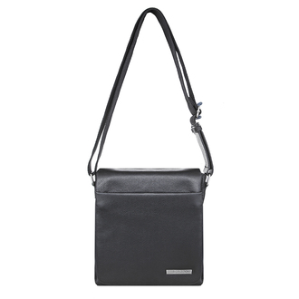 Black Leather Ghent Messenger Bag YH 8234410 BLK
