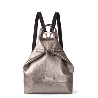 Metallic Silver Leather Torbole Bag YH 8339118 PLZ R