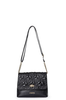 Smooth Black Leather Parma Bag YM 5220710 BLK