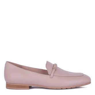 Women's Soft Beige Leather Loafers GJ 5210011 BGI