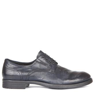 Men's Stylish Dark Blue Leather Derbies GN 7224019 NVA