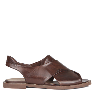 Women's Smooth Chocolate Leather Sandals GP 5106010 BRA