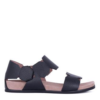 Women's Black Footbed Deerskin Sandals GP 5127811 BLI