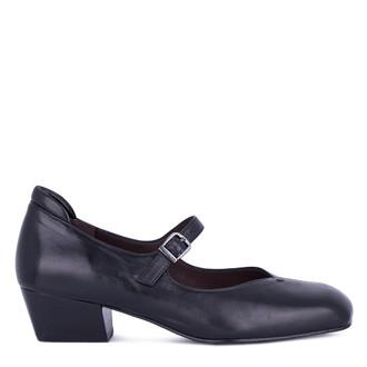 Women's Black Glove Leather Mary-Janes GP 5230511 BLI