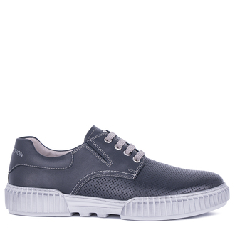 Lightweight Blue Perforated Leather Sneakers TL 7224311 NVG