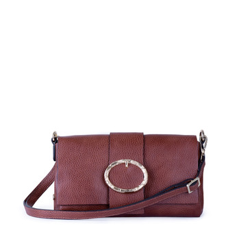 Cognac Brown Leather Bag Saint-Tropez  YG 5152811 CGA