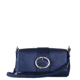 Blue Leather Saint-Tropez Bag YG 5152811 NVZ