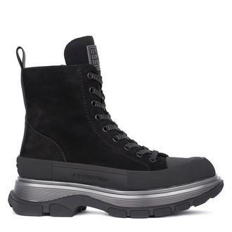 Women's Deep Blue Suede Boots GD 5319811 BLN