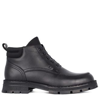 Men's Black Grained Leather Boots GK 7522711 BLI