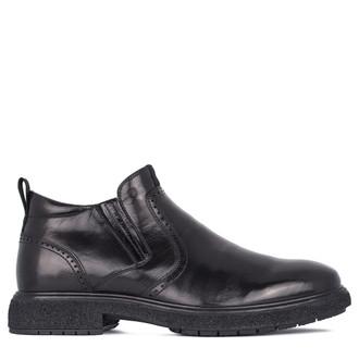 Men's  Black Leather Winter Boots GL 7513511 BLK