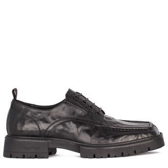 Men's Washed Leather  Derbies  GN 7218911 BLA