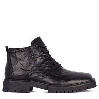 Men's Washed Leather Boots GN 7318011 BLA