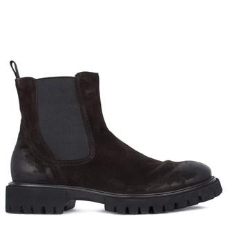Men's Brown Nubuck Chelsea Boots GN 7320211 DBV