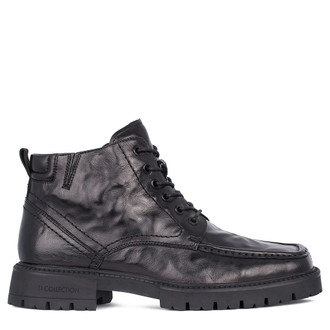Men's Polished Leather Winter Boots GN 7518811 BLA