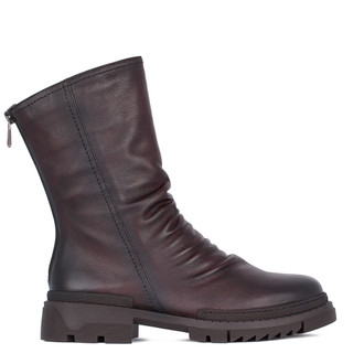 Women's Burgundy Leather Boots GP 5322211 BDA