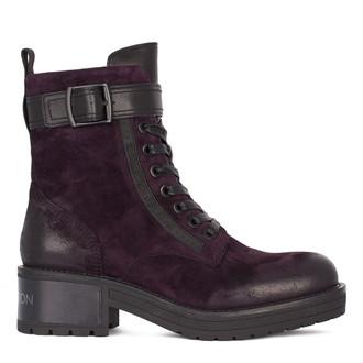 Women's Deep Purple Suede Boots GS 5328511 DVV