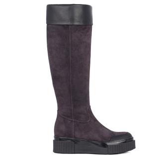 Women's Deep Violet Suede Long Boots TF 5728011 DVS