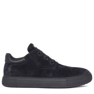 Men's Minimalist Navy Suede Sneakers TL 7325811 NVB