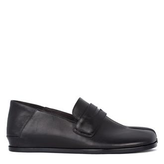 Women's Black Leather Tabi Shoes VR 5218811 BLI