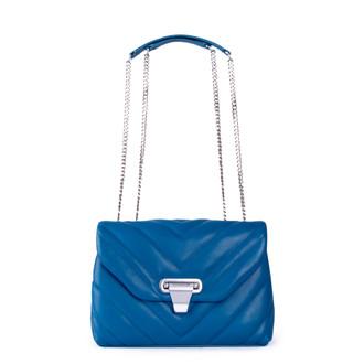 Women's Ocean Blue Leather Vittoria Bag YT 5218811 NVI