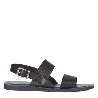 Sandals in Black Leather | TJ COLLECTION | Main Image