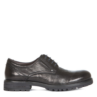 Derby Shoes in Black Washed Leather | TJ COLLECTION | Main Image