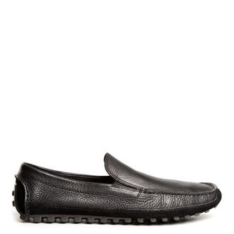 Men's Black Grained Leather Moccasins MP 7234114 BLI