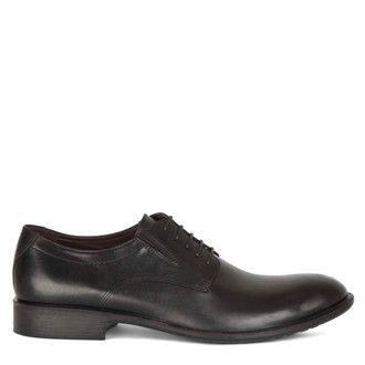Men's Black Classic Derby Shoes MP 7291015 BLK