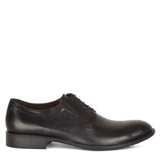 Men's Black Classic Derby Shoes MP 7291015 BLK