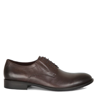 Men's Dark Brown Classic Derby Shoes MP 7291015 DBR