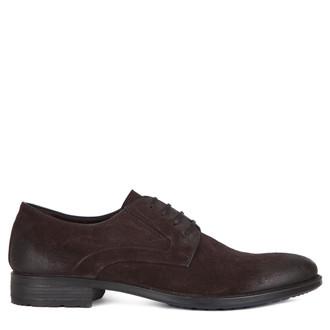Men's Suede Classic Derby Shoes MP 7294116 BRS