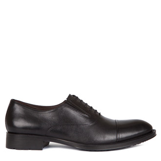 Oxford Shoes in Black Leather | TJ COLLECTION | Main Image