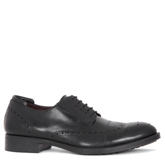 Classic Brogues in Black Leather | TJ COLLECTION | Main Image