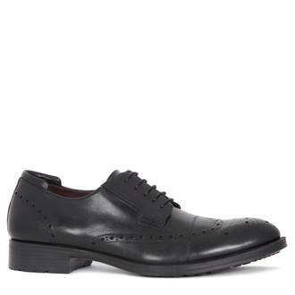 Men's Black Brogue Shoes MP 7298815 BLK