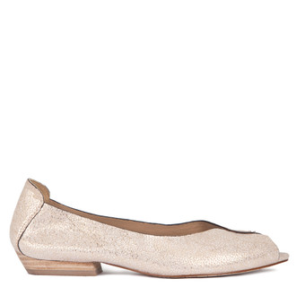 Summer Flats in Shimmering Gold Leather | TJ COLLECTION  | Main Image