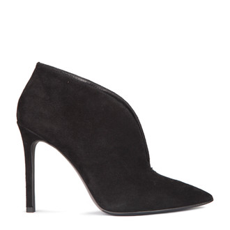 Stiletto Heel Ankle Boots in Black Suede | TJ COLLECTION  | Main Image