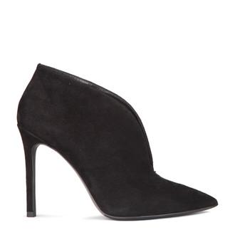 Women's Black Suede High Heel Ankle Boots GJ 5299117 BLS