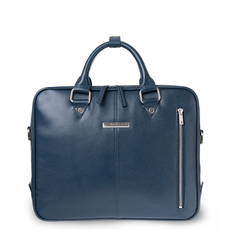 Navy Grained Leather Business Bag Oxford YH 8431316 NVY R