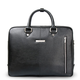 Black Grained Leather Travel Bag YH 8471312 BLK