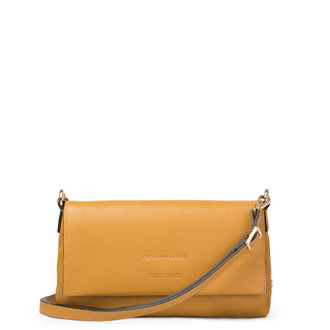 Yellow Leather Shoulder Bag Monte-Carlo YG 5152517 YLG