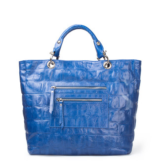 Reptile Embossed Leather Tote Bag Florence YG 5481317 BUC