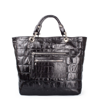 Reptile Print Leather Tote Bag Florence YG 5481318 BLC