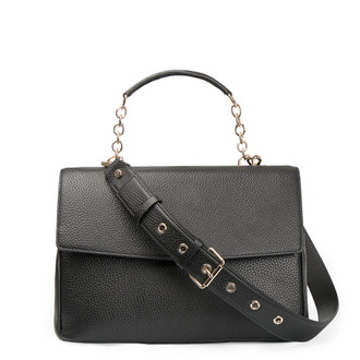 Grained Leather Structured Satchel Bag Lausanne YT 5338017 BLI