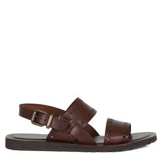 Men's Brown Leather Sandals GA 7158017 BRA